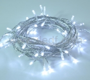 Outdoor LED Sting lights 50L Connectable Clear PVC Cable