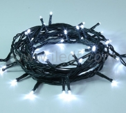 Outdoor LED String Lights Connectable 50L Black PVC Cable