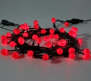 Outdoor Berry Fairy Lights,50L Red LED. Black PVC Cable
