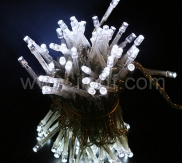 Outdoor LED String,White LED,Black PVC Cable